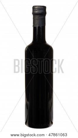 Balsamic Vinegar Bottle Isolated On The White Background