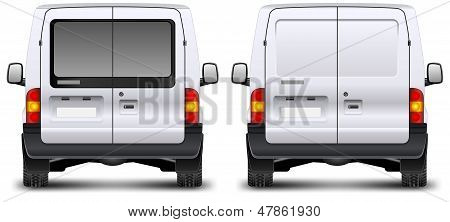 Minivan Rear View