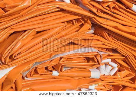 Folded Tarpaulin In Orange
