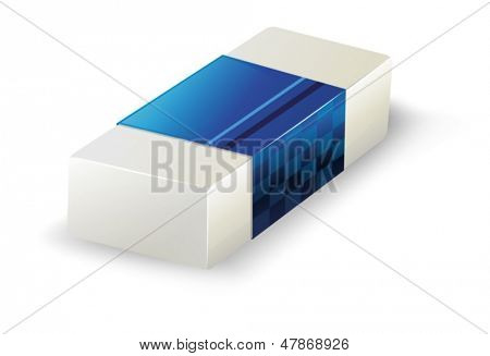 Illustration of an eraser on a white background