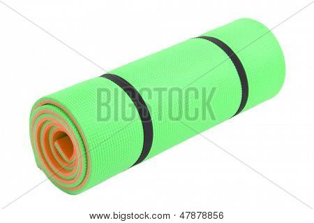 Mat for fitness isolated on white