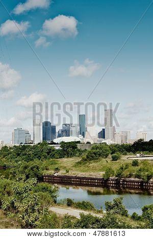 Houston, Texas. Skyline summer day
