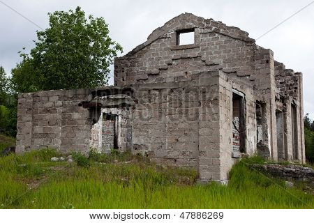 The Walls Of An Abandoned House