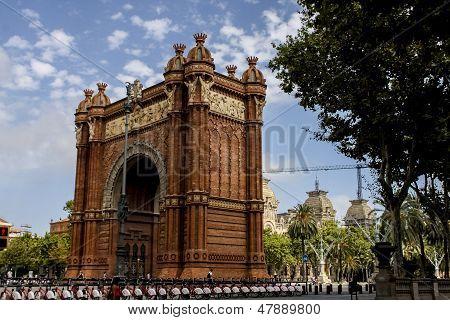 Arc de Triomf in Barcelona