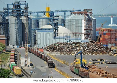 Port grain dryer and train