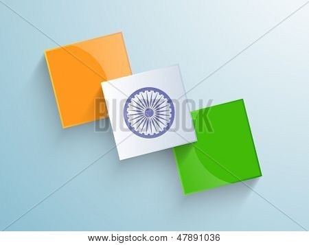 Creative background for Independence Day or Republic Day.
