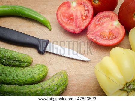 Ingredients And A Knife
