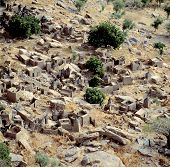 stock photo of dogon  - Traditional Dogon village Banani Mali - JPG