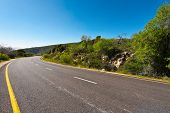 image of golan-heights  - Asphalt Road in the Golan Heights Early Spring - JPG