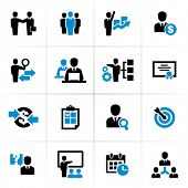 stock photo of partnership  - Business and Management Icons - JPG