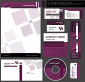 stock photo of lilas  - Corporate identity template - JPG