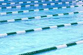 stock photo of swim meet  - Swimming Pool Lanes - JPG