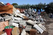image of waste management  - a pile of metallics wastes 