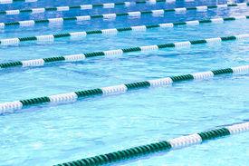 stock photo of swim meet  - Swimming Pool Lanes - JPG