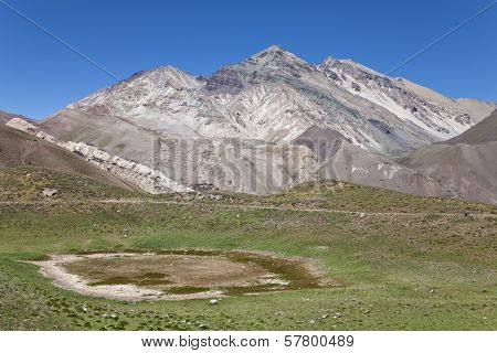 View Of The Mountains Around Aconcagua Valley.