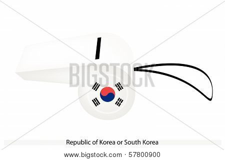 A Whistle Of The Republic Of Korea