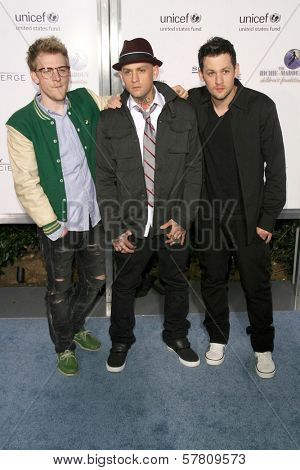 Josh Madden with Benji Madden and Joel Madden at the Sony Cierge and The Richie-Madden Children's Foundation UNICEF Benefit. Myhouse, Los Angeles, CA. 03-23-09
