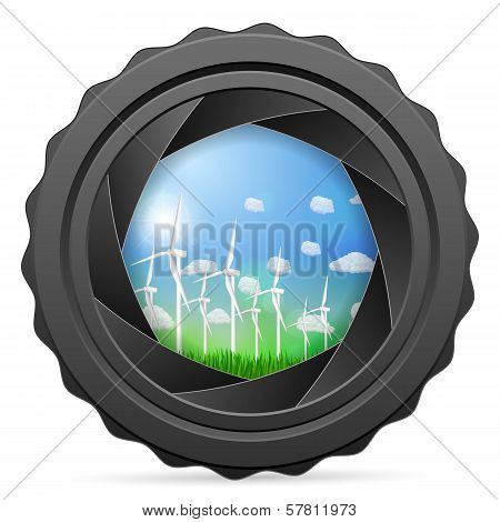 Camera Shutter With Wind Generators