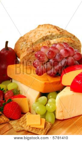 Assorted Fruits And Cheeses