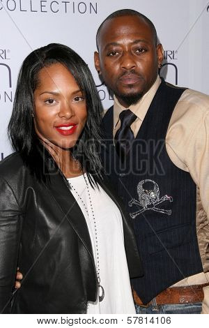 Omarr Epps and wife Keisha at Queen Latifah's Birthday Party presented by Cover Girl Queen Collection. Club Light, Hollywood, CA. 03-28-09
