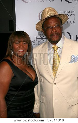 Judge Greg Mathis and wife Linda at Queen Latifah's Birthday Party presented by Cover Girl Queen Collection. Club Light, Hollywood, CA. 03-28-09