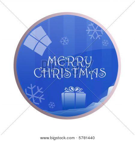glossy merry Christmas Kugeln