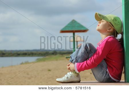 The girl on a beach