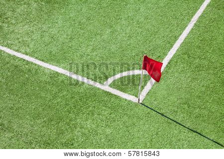 Corner And Red Flag