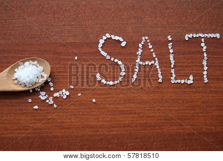 Sea Salt In Wooden Wpoon