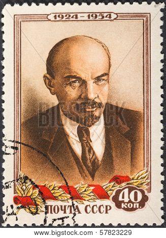 Portrait Of Communist Leader Lenin