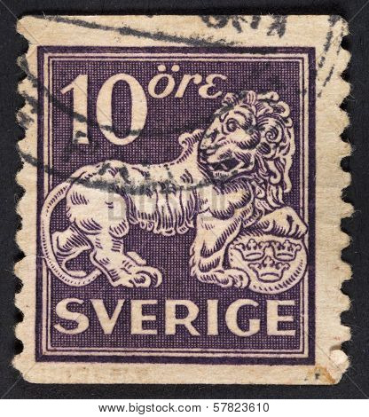 Symbol Of Swedish Monarchy Lion