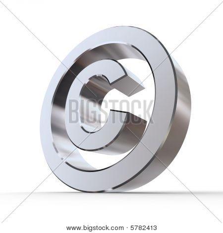 Shiny Copyright Symbol