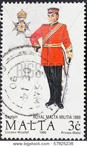 Uniform Of Captain Royal Malta Militia In 1889