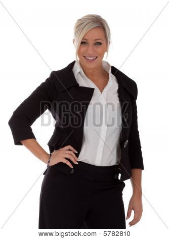 Beautiful Businesswoman Poses