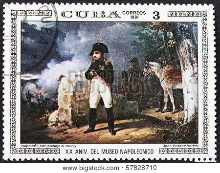Napoleon With War Landscape Background