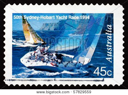 Postage Stamp Australia 1994 Two Yachts Abeam