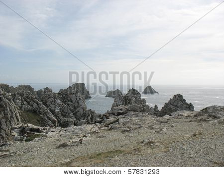 Pointe Du Raz And Sea Coast In Brittany