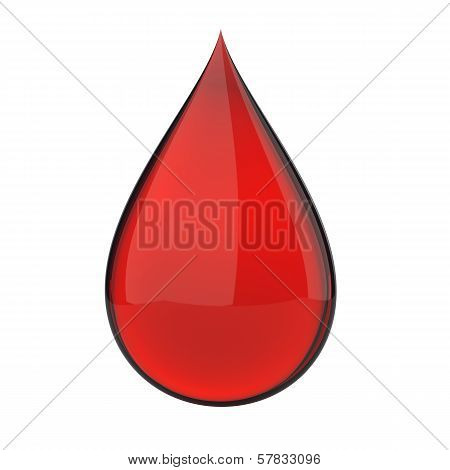 3D blood drop