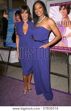 Lisa Rinna and Garcelle Beauvais   at the launch party for 'Dance Body Beautiful' series of DVDs by Lisa Rinna. Belle Gray, Sherman Oaks, CA. 12-09-08