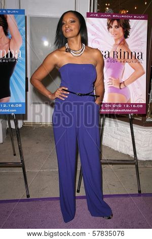 Garcelle Beauvais   at the launch party for 'Dance Body Beautiful' series of DVDs by Lisa Rinna. Belle Gray, Sherman Oaks, CA. 12-09-08
