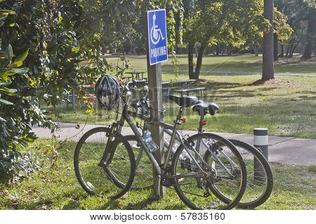 Bicycles In Handicapped Zone