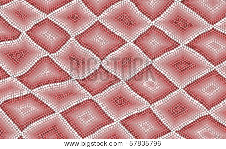 An Illustration Based On Aboriginal Style Of Dot Painting Depicting Snake Skin
