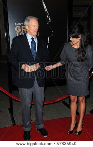 Clint Eastwood and Dina Eastwood   at the World Premiere of 'Gran Torino'. Warner Bros Studios, Burbank, CA. 12-09-08