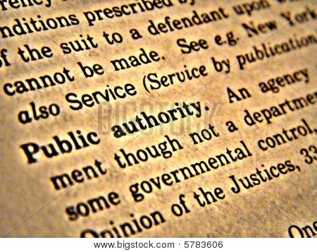 Dictionary Public Authority