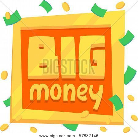 illustration plate big money