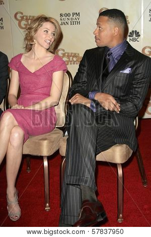 Elizabeth Banks and Terrence Howard   at the 66th Annual Golden Globe Awards Nomination Announcement Press Conference. Beverly Hilton Hotel, Beverly Hills, CA. 12-11-08