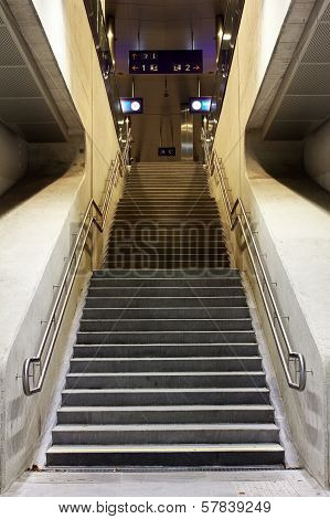 Staircase in a station