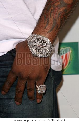 Busta Rhymes's jewelry   at Spike TV's 2008 'Video Game Awards'. Sony Pictures Studios, Culver City, CA. 12-14-08