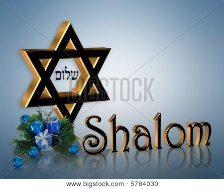 Hanukkah Background Elegant Star of David