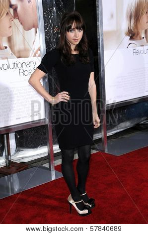 Zoe Kazan   at the World Premiere of 'Revolutionary Road'. Mann Village Theater, Westwood, CA. 12-15-08